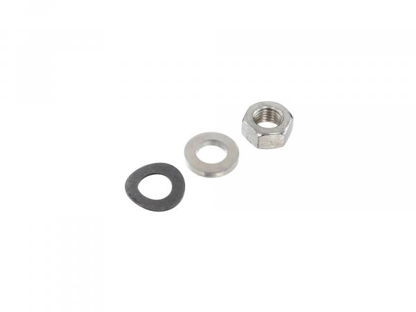 Set: Nuts, washers for front thru axle S50, S51, S70