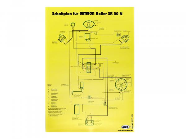 Circuit diagram color poster (40x57cm) Simson SR50 N