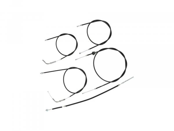 10069125 Set: Bowdenzug Schwarz - Simson SR4-1 SK Spatz - Bild 1