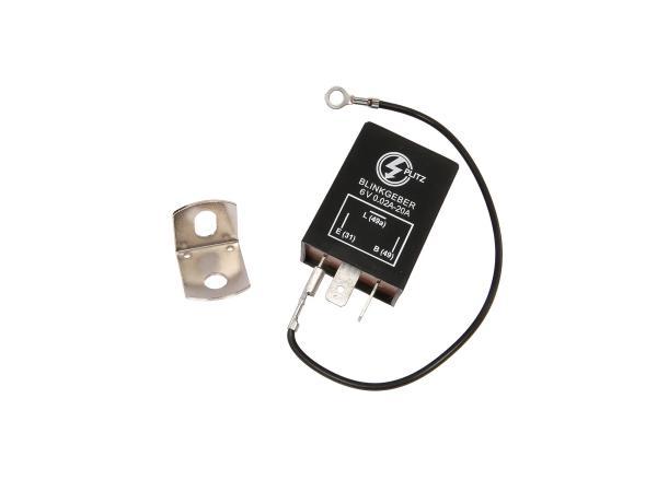 Blinkgeber, elektronisch, 6V 3-pol. Anschluss (31, 49, 49a), universell einsetzbar