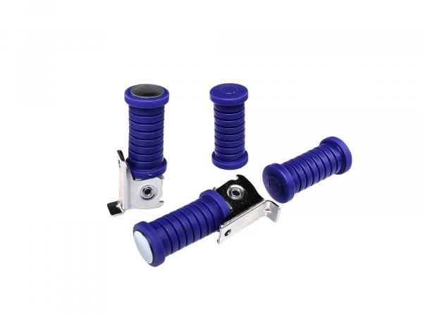 Set: Tuning footrests, 4 parts in blue Simson S51, S50, S53, S70, S83