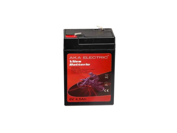 Batterie 6V 4,5Ah AKA (Vlies - wartungsfrei) für Umbausatz - für Simson AWO 425, MZ RT