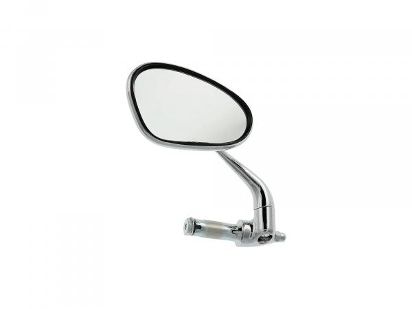 Mirror left, handlebar mounting, short bar, solid design
