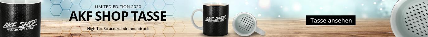 Tasse AKF Shop your moped store - das perfektee Weihnachtsgeschenk