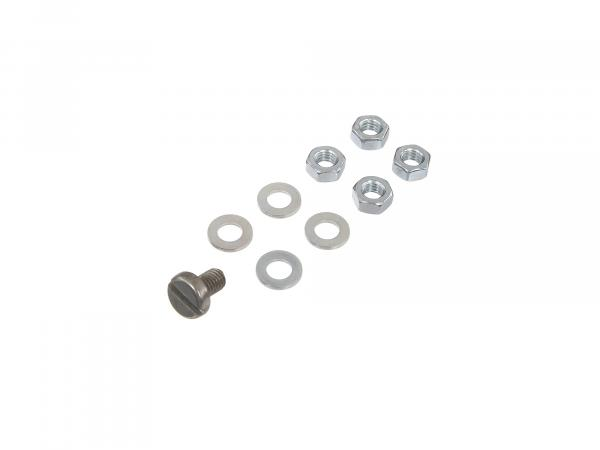 Set: Screw, nuts, washers for cylinder head Schwalbe KR51, Sparrow SR4-1, Star, SR4-2, Sperber SR4-3, Habicht SR4-4