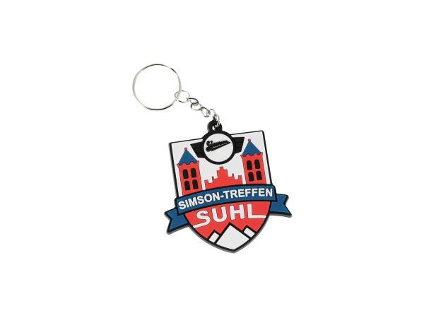 """Schlüsselanhänger """"Simson Treffen Suhl"""" aus Soft-PVC, mit Schlüsselring"""