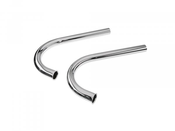 elbow ES250 (double port=set=2 pieces) chrome Ø40mm