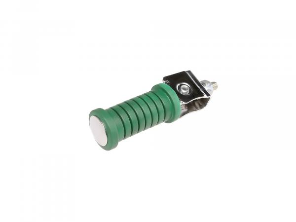Passenger footrest green/chrome (suitable for motorcycle MZ)