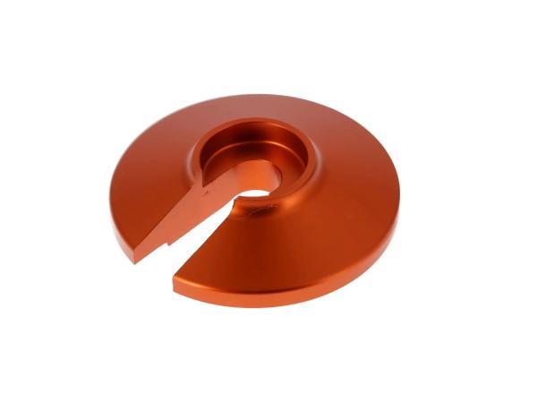 Steckscheibe - Aluminium - Farbe Orange - für Enduro-Federbein Simson S51 Enduro