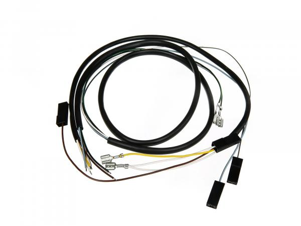 Wire harness for switch combination 6V + 12V without headlight flasher, flat handlebar - Simson S51, S70