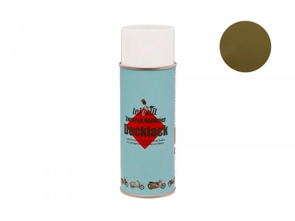 Spray can Leifalit topcoat olive green - 400ml