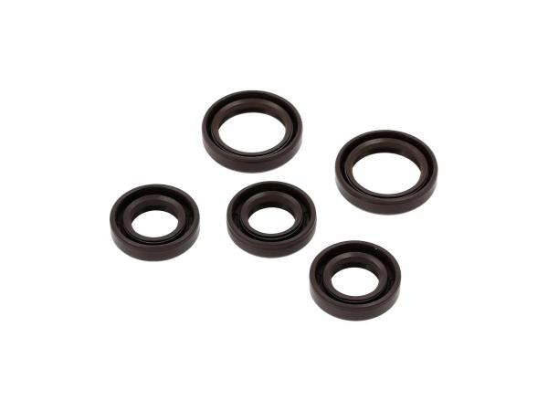 Set: Oil seals motor complete, brown (motor RM150) - IWL SR59 Berlin