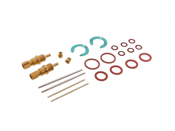 Repair kit for 2 carburettors BK350 (flat slide valve) 22 pieces