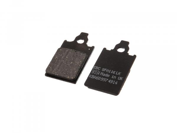 Brake pad pair 1-hole MCB 578