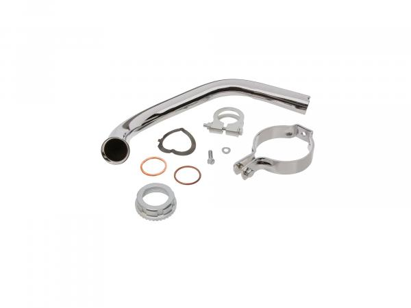 Set: Manifold complete with mounting clamp for exhaust - Simson KR51/2 Schwalbe