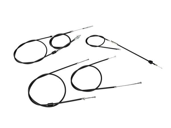 Bowdenzug-Set in Schwarz - Simson SR50, SR80