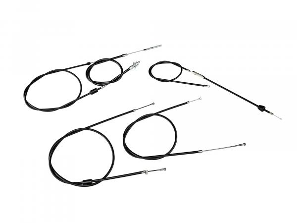 10000331 Bowdenzug-Set in Schwarz - Simson SR50, SR80 - Bild 1