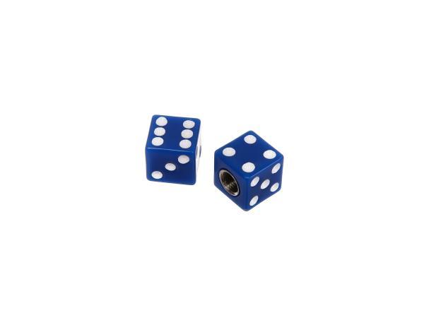 10065868 Set: 2x Ventilkappe Würfel, Blau - Bild 1